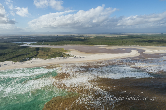 flooding heuningnes river estuary by wildlife and conservation photographer Peter Chadwick