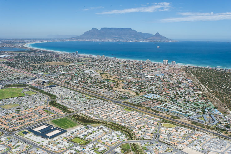 Aerial image of Cape Town coastal development_PeterChadwick_AfricanConservationPhotographer