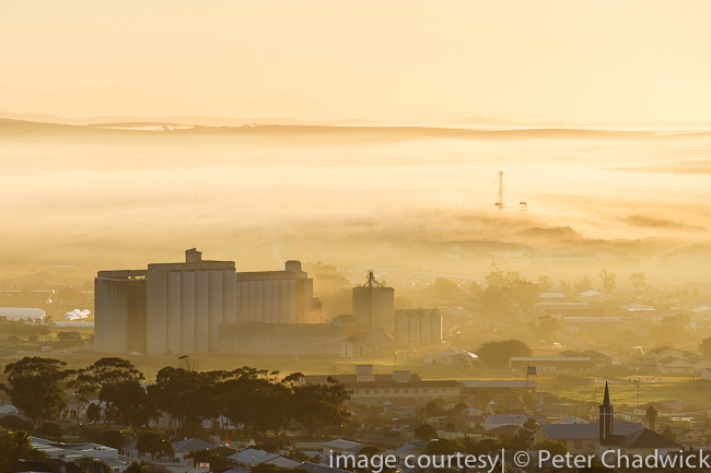 Grain Silos in Bredasdorp by wildlife and conservation photographer Peter Chadwick
