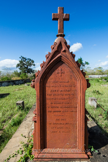 Mary moffets grave site by wildlife and conservation photographer Peter Chadwick