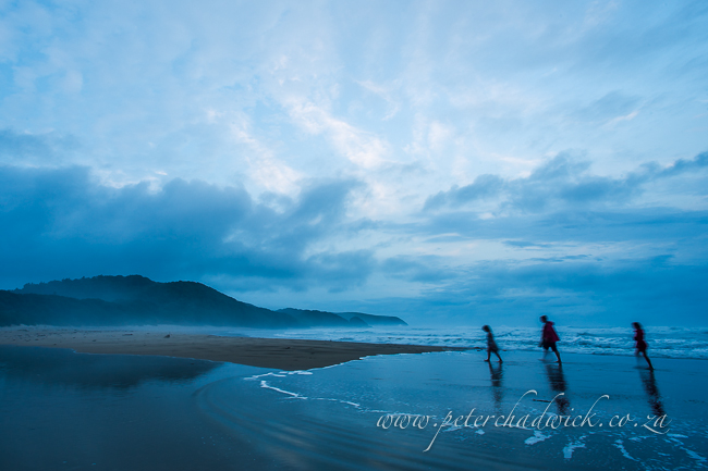 walking the dwesa beach at dusk by wildlife and conservation photographer Peter Chadwick