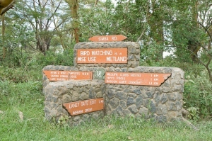 Nakuru road signage by wildlife and conservation photographer Peter Chadwick.