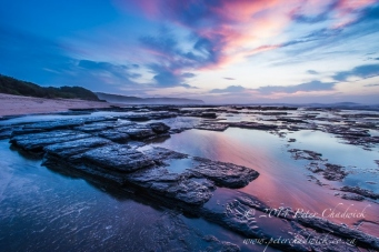 Dwesa coastline at dawn by wildlife and conservation photographer Peter Chadwick